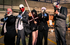 `Payday` and `Star Wars` cosplay Royalty Free Stock Image