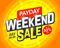 Payday Weekend Sale. Banner design template Stock Images
