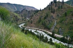 Payette River Route 55 Highway Banks Idaho royalty free stock photography