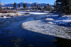 Payette River In Winter Stock Photo