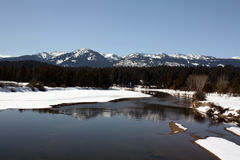 Payette River in Winter Stock Image