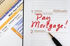 Payez le prêt hypothécaire à l'habitation Photos stock