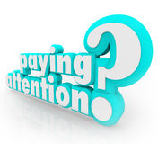 Paying Attention Question Understanding Important Information royalty free illustration