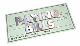 Paying Bills Check Money Send Payment Words Royalty Free Stock Photo