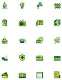 Paying bills icon set Royalty Free Stock Photography