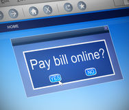 Paying bills online concept. Stock Photos
