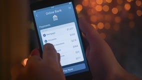 Paying bills using banking app