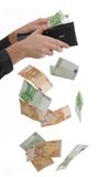 Paying in cash Royalty Free Stock Photos