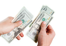 Paying. counting money Stock Images