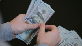 Paying or counting money. stock video footage