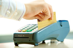 Paying by credit card Royalty Free Stock Image