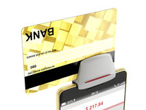 Paying with credit card Royalty Free Stock Photo