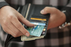 Paying by credit card Stock Images