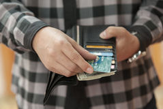 Paying by credit card Stock Image