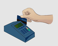 Paying Credit Card. For Purchases royalty free illustration