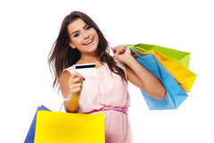 Paying credit card for purchases Royalty Free Stock Photo