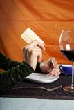 Paying with credit card at restaurant Royalty Free Stock Photo
