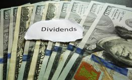 Paying dividends Stock Image
