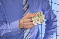 Paying in Dollars Royalty Free Stock Photo