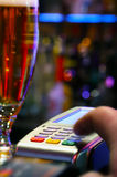 Paying Drink With Credit Card Royalty Free Stock Photos
