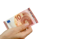 Paying by euros Stock Photography