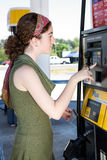 Paying For Gas Stock Photography