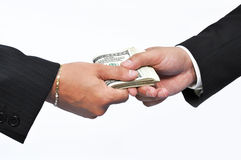 Paying money Stock Image