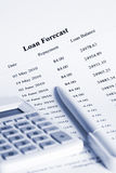 Paying Off a Loan Schedule Forecast Stock Image
