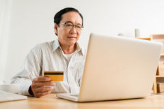 Paying online Stock Image