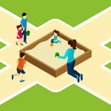 Paying On The Playground Illustration Stock Photography