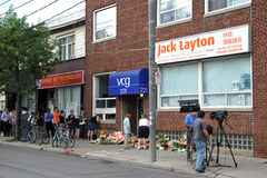 Paying respects at Jack Layton's office Royalty Free Stock Image