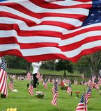 Paying respects to Fallen Comrades on Memorial Day Royalty Free Stock Photos