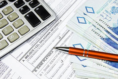 Paying taxes Royalty Free Stock Image