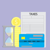 Paying taxes with credit card Royalty Free Stock Images