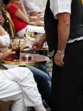 Paying the waiter Royalty Free Stock Image