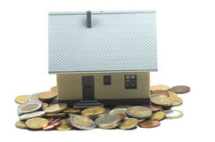 Paying your mortgage Royalty Free Stock Image