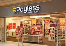 Payless ShoeSource bootique zdjęcia stock