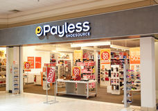 Payless ShoeSource bootique 免版税图库摄影
