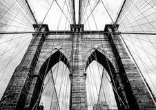 Бруклинский мост Paylon стоковые изображения rf