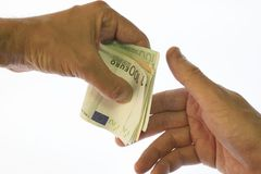 Payment. Paying the bill Royalty Free Stock Photography