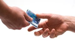 Payment. In euros royalty free stock photo