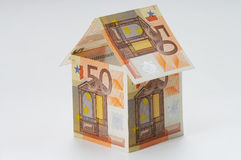 Payment. House made out of  50 Euro bills Stock Images