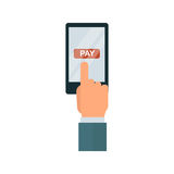 Payment acceptance vector illustration. Stock Images