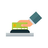 Payment acceptance vector illustration. Stock Photo