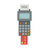 Payment acceptance vector illustration. Royalty Free Stock Photography
