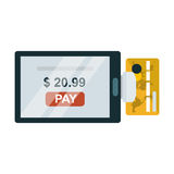 Payment acceptance vector illustration. Royalty Free Stock Photo