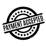 Payment Accepted rubber stamp Royalty Free Stock Photos