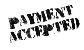 Payment Accepted rubber stamp Royalty Free Stock Images