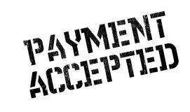 Payment Accepted rubber stamp Royalty Free Stock Photography