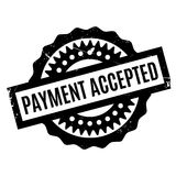Payment Accepted rubber stamp Stock Image